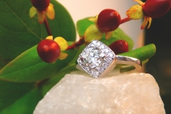 Bague multidiamants, or blanc 18K