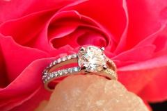 Bague multi-diamants, en or blanc 18K