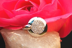 Bague pavées de diamants, en or blanc 18K