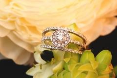 Bague multi-diamants, or blanc 18K