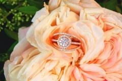 Bague multidiamants, or rose 18K