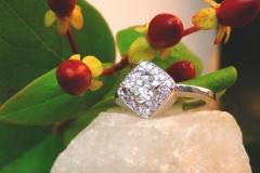 Bague multidiamants, or blanc 18K