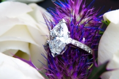 Bague diamant taille marquise, or blanc 18K