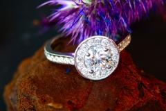Bague diamants, or blanc 18K