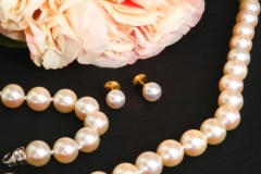Boucles d'oreilles Perles du Japon, or jaune 18K