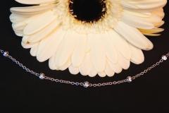 Bracelet diamants des deux côtés, or blanc 18K