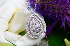 Pendentif multidiamants, or blanc 18K